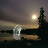 Lightmark No.58, Mihkalijäri, Lappi, Suomi, Light Painting, Night Photography.
