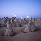 Lightmark No.100, Pinnacles, Nambung National Park, Western Australia, Light Painting, Night Photography.