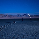 Lightmark No.115, The Racetrak Playa, Death Valley, California, Light Painting, Night Photography.