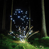Lightmark No.15, Schwarze Berge, Rosengarten, Germany, Light Painting, Night Photography.