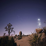 Lightmark No.45, Jumbo Rock, Joshua Tree National Park, California, USA, Light Painting, Night Photography.