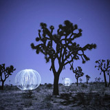 Lightmark No.52, Split Rock, Joshua Tree National Park, California, Light Painting, Night Photography.
