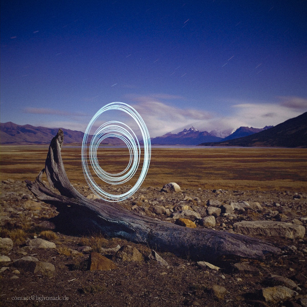 Lightmark No.54, Parque Nacional Los Glaciares, Provincia Santa Cruz, Light Painting, Night Photography.