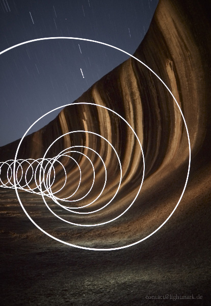 Lightmark No.82, Wave Rock, Hyden Wildlife Park, Western Australia, Light Painting, Night Photography.