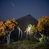 Lightmark No.84, Christmas Trees, Frenchman Peak, Cape Le Grand National Park, Australia, Light Painting, Night Photography.