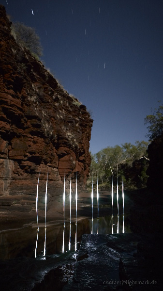 Lightmark No.91, Kalamina Gorge, Karijini National Park, Australia, Light Painting, Night Photography.