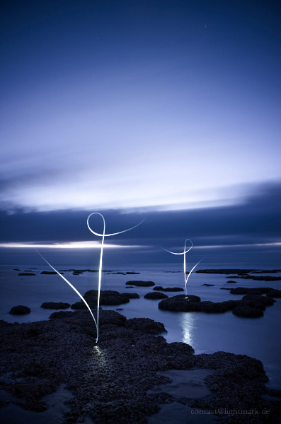 Lightmark No.97, Hamelin Pool Marine Nature Reserve, Western Australia, Light Painting, Night Photography.